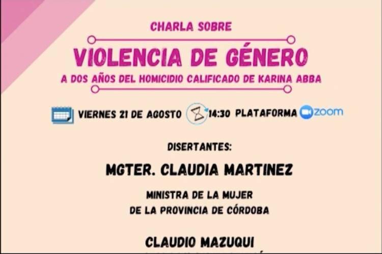 CHARLA SOBRE VIOLENCIA DE GÉNERO VIA ZOOM